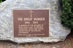 Great hunger memorial. Royalty Free Stock Image