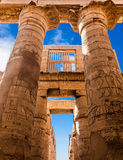 Great Hypostyle Hall and clouds at the Temples of Karnak Royalty Free Stock Photos