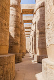 Great Hypostyle Hall and clouds at the Temples of Karnak Royalty Free Stock Image