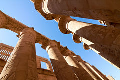Great hypostyle hall with giant lotus columns Royalty Free Stock Photo