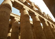 Great Hypostyle Hall, Karnak, Luxor, Egypt Royalty Free Stock Image
