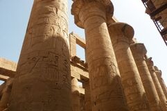 Great Hypostyle Hall, Karnak, Luxor, Egypt Royalty Free Stock Images
