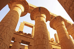 Great Hypostyle Hall, Karnak temple complex, Luxor Stock Photos