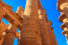 Great Hypostyle Hall in Karnak temple complex in Luxor, Egypt royalty free stock images