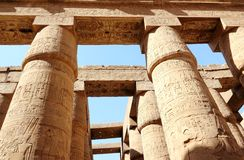 The Great Hypostyle Hall of the Temple of Karnak. Royalty Free Stock Photo