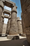 The Great Hypostyle Hall of the Temple of Karnak. Luxor, Egypt. Stock Photos