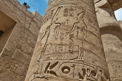 The Great Hypostyle Hall of the Temple of Karnak. Luxor, Egypt. Royalty Free Stock Photography