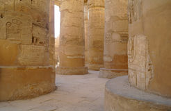 Great Hypostyle Hall at the Temples of Karnak (ancient Thebes). Stock Photos