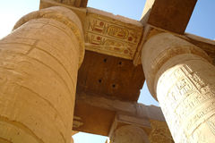 Great Hypostyle Hall at the Temples of Karnak. Royalty Free Stock Image