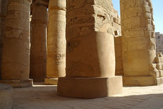 Great Hypostyle Hall at the Temples of Karnak . Luxor, Egypt Royalty Free Stock Photography