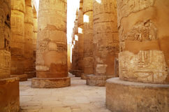 Great Hypostyle Hall at the Temples of Karnak . Luxor, Egypt Stock Photos