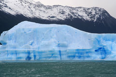 Great iceberg. Floating in water, near of perito moreno glacier, in Argentina Stock Photography