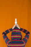 Great Idea 2. A woman holding a lamp in her hands Stock Photography