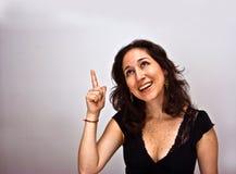 Great idea. Woman having a brilliant idea Stock Photo