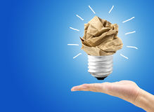great idea concept with crumpled paper royalty free stock photography