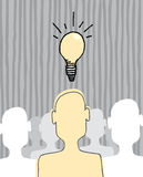 Great idea concept / Inspiration light bulb Royalty Free Stock Photo