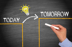 Great Idea Concept - Today and Tomorrow royalty free stock images