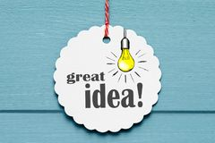 Great idea design royalty free stock photos