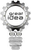 Great Idea - Light Bulb and Gears Stock Images