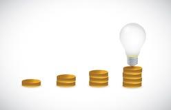Great idea light bulb graph illustration design Stock Photography