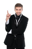 Great idea! Portrait of smiling business man Royalty Free Stock Photo