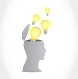 Great ideas inside your head illustration Stock Photos