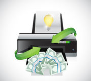 Great ideas into money. concept illustration Royalty Free Stock Photo