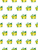 Great illustration of beautiful yellow lemon fruits  on white background. Water color drawing of lemon. Seamless pattern Royalty Free Stock Photos