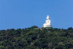 The great image of Buddha on the mountain Stock Images