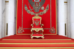 The great imperial throne Stock Images