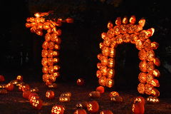 The Great Jack O`Lantern Blaze in Croton-on-Hudson in New York Stock Photography