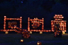 The Great Jack O`Lantern Blaze in Croton-on-Hudson in New York Stock Photos