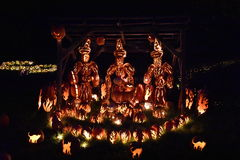 The Great Jack O`Lantern Blaze in Croton-on-Hudson in New York. As seen on Oct 16, 2016. It is is a fall spectacle integrating thousands of hand-carved jack o Stock Photo