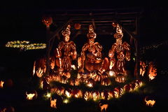 The Great Jack O`Lantern Blaze in Croton-on-Hudson in New York. As seen on Oct 16, 2016. It is is a fall spectacle integrating thousands of hand-carved jack o Royalty Free Stock Photo