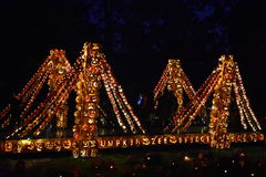 The Great Jack O`Lantern Blaze in Croton-on-Hudson in New York. As seen on Oct 16, 2016. It is is a fall spectacle integrating thousands of hand-carved jack o Royalty Free Stock Photography