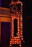 The Great Jack O`Lantern Blaze in Croton-on-Hudson in New York. As seen on Oct 16, 2016. It is is a fall spectacle integrating thousands of hand-carved jack o Stock Photography