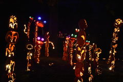 The Great Jack O`Lantern Blaze in Croton-on-Hudson in New York Stock Photo