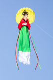 Great japanese woman like kite in the blue sky Royalty Free Stock Photos