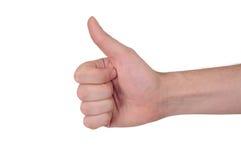 Great Job. Close up of a man hand, saying great job Royalty Free Stock Images