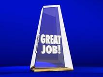 Great Job Good Performance Award Employee Royalty Free Stock Image