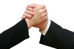 Great Job! - Handshake. A little bit informal handshake. I will be very happy if you let me know when you use this image in your project Royalty Free Stock Photography