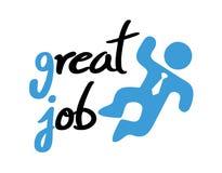 Great job message. Creative design of great job message stock illustration