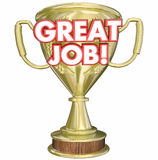 Great Job Performance Recognition Trophy Royalty Free Stock Photography