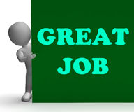 Great Job Sign Means Job Opportunity Royalty Free Stock Images