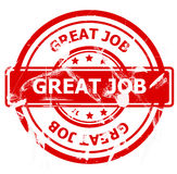 Great job stamp Royalty Free Stock Images