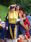 Great Juggling Parade, Lublin, Poland. Women in medieval outfits during the Great Juggling Parade in the historic centre of Lublin. The summer Festival of Circus Stock Images