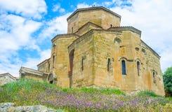 The Great Jvari Church in Mtskheta stock photography