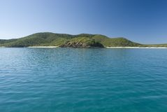 Great Keppel Island. A lone yacht moored off great keppel island, queensland, australia Royalty Free Stock Photo