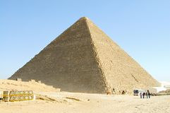 The Great Khufu Pyramid of Giza Stock Photo