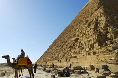The Great Khufu Pyramid of Giza Royalty Free Stock Images